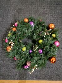30 inch kaleidoscope  wreath LED battery  operated