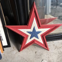 red and blue star wall decor Guilford, 06437