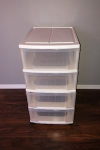 Iris, Four drawer chest on casters white