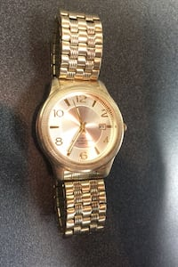 Waltham Stainless Steel Gold Coloured Watch