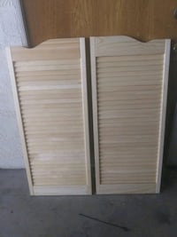 Wood doors, saloon doors. Shutterrs New 25.00