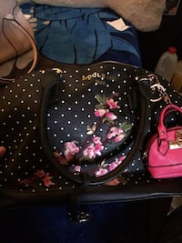 black and pink floral leather tote bag Albuquerque, 87107