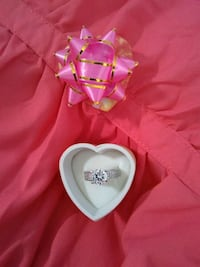 pink ribbon and silver-colored solitaire ring Virginia Beach, 23454