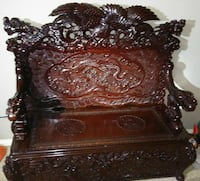 Oriental antique hand carved bench Rowlett, 75089