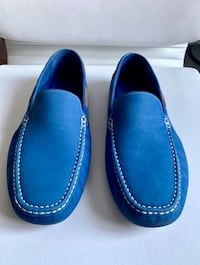 Blue Suade Loafers