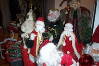 Santa Claus figurines and Tree toppers