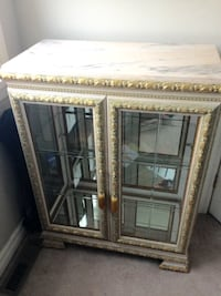 Curio Cabinet with Marble Top