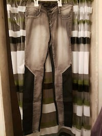 New Size 3 Skinny jeans with leather  Barrie