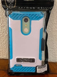 Blue Tri-Shield Case Cover & Belt Clip Holster with Metal Kickstand