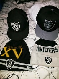 two Oakland Raiders fitted caps and knit caps Lathrop, 95330