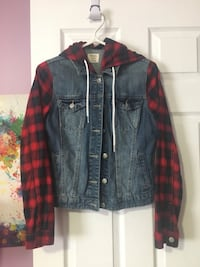Gray and red denim jacket Mississauga, L5R 1L3