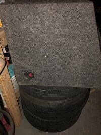 "Dual 12"" JL audio subwoofers with box Bradford West Gwillimbury, L3Z"