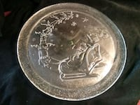"13"" Glass Christmas Holiday Platter Lake Forest, 92630"