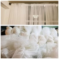 White curtains 8 panel/ 4 sets Mississauga, L5G 4N4