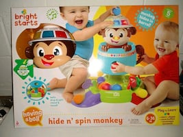 BABY HIDE N SPIN MONKEY! NEW