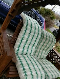 Pair of green and white Chaise lounge cushions Rockville, 20851