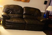 Brown Leather Couch - La-Z-Boy Sterling, 20165