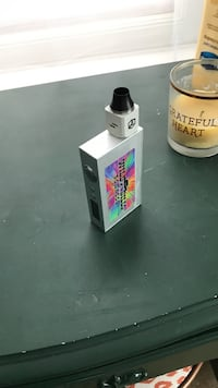 white Wild Bills variable box mod with RDA