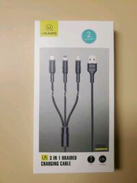 Multi charging cable USAMS U5 3 in 1 braided