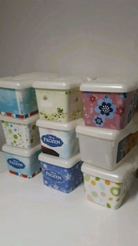Empty Baby wipes containers