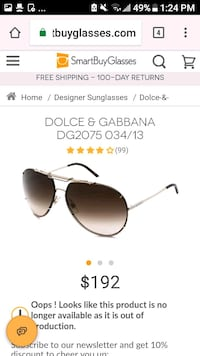 Like new Dulce and Gabbana Designer sunglasses 2409 mi