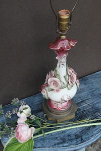 white and pink ceramic figurine VANCOUVER