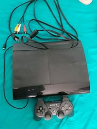 black Sony PS3 super slim console with controller Anaheim, 92805