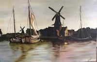 """Oil painting """"Peaceful Harbor"""" by Clarence Bryant Homosassa, 34446"""