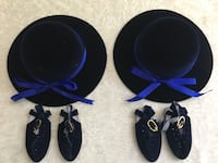 "NEW 18"" Doll size velvet hat/shoe set $6 each Northport, 11768"