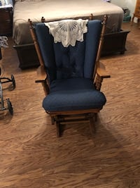 Black and brown wooden glider chair Canton, 39046