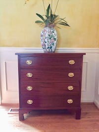 George III style string-inlaid chest of drawers McLean