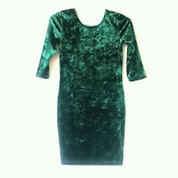 Super-cute crushed velvet/spandex dress.  Size small.  Brand new.