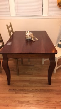 rectangular brown wooden table with four chairs dining set Arlington, 22205
