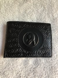 Black real leather wallet new never used  Laguna Niguel, 92677
