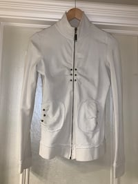 CREAM ZIP UP WITH STUD DECORATION- Size Small Calgary, T3H 3C7