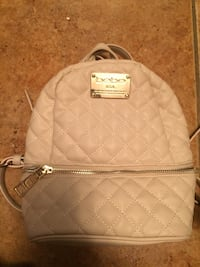 quilted beige Bebe leather backpack
