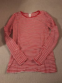 Red & White Striped Long Sleeve Shirt from H&M Dollard-des-Ormeaux, H9A 3B3