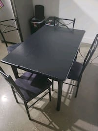 Black Dining Room Table w/ 4 Chairs