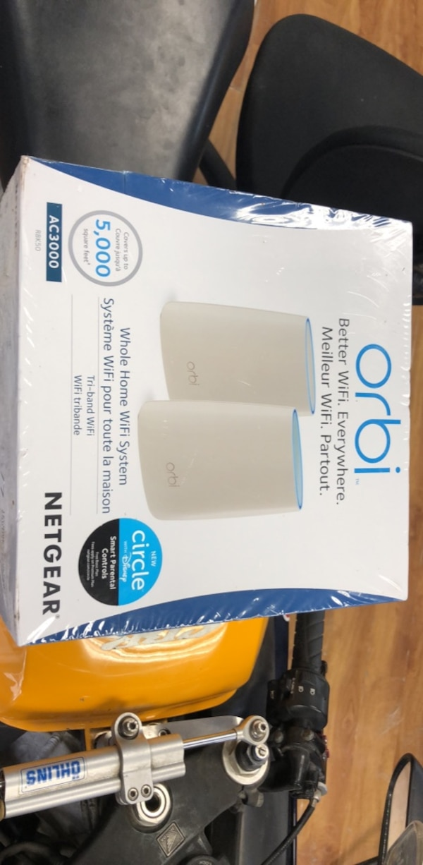 NEW SEALED NETGEAR ORBI WHOLE HOME WIFI SYSTEM FOR SALE! d34ac9d1-5a2f-4e60-8c48-533726f35744