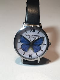 NEW - Blue Butterfly w/ Silver & White Face Watch Edmonton
