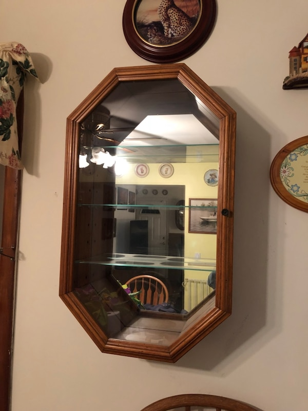 Octagon Shaped Hanging Cabinets