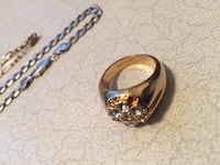 18k gold plated ring 3688 km