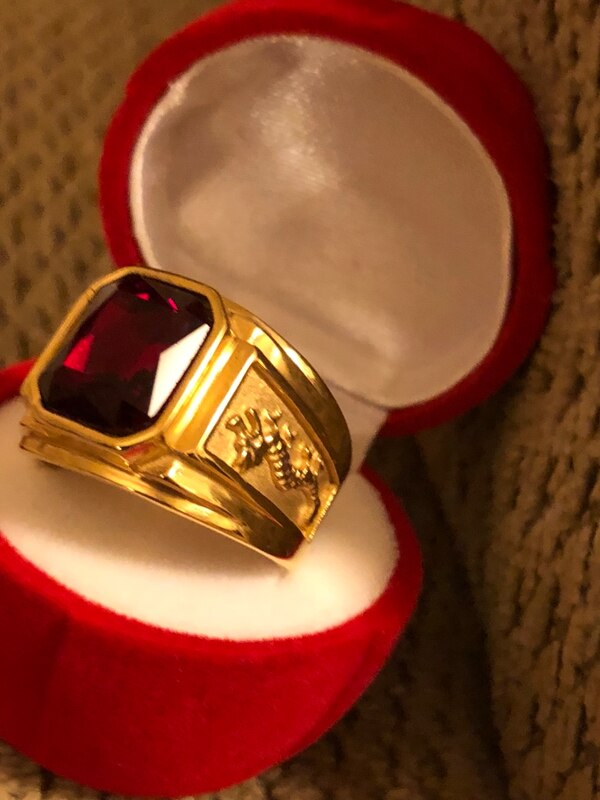 Holiday gift gold plated ring $45 for each