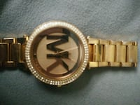 round gold-colored analog watch with link bracelet Poughkeepsie, 12601