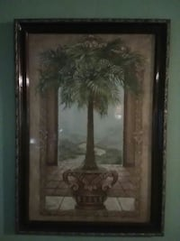 Majesty palm tree painting with brown frame Jackson, 39209