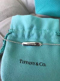 Brand new silver Tiffany bracelet engraved with Aria Los Angeles, 91343