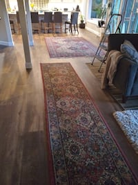 Large matching area and runner rugs