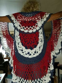 red, white and blue knitted vest Beckley, 25801