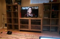 IKEA TV stand with glass doors  Calgary, T2T 4P5