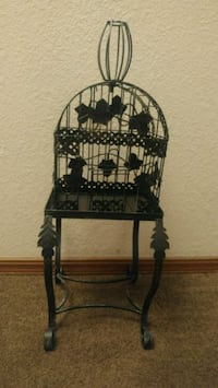 Vintage metal birdcage with stand Norman